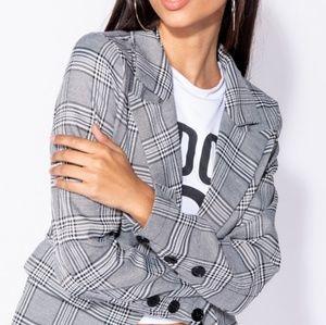 Jackets & Blazers - Plaid Jacket  Blazer